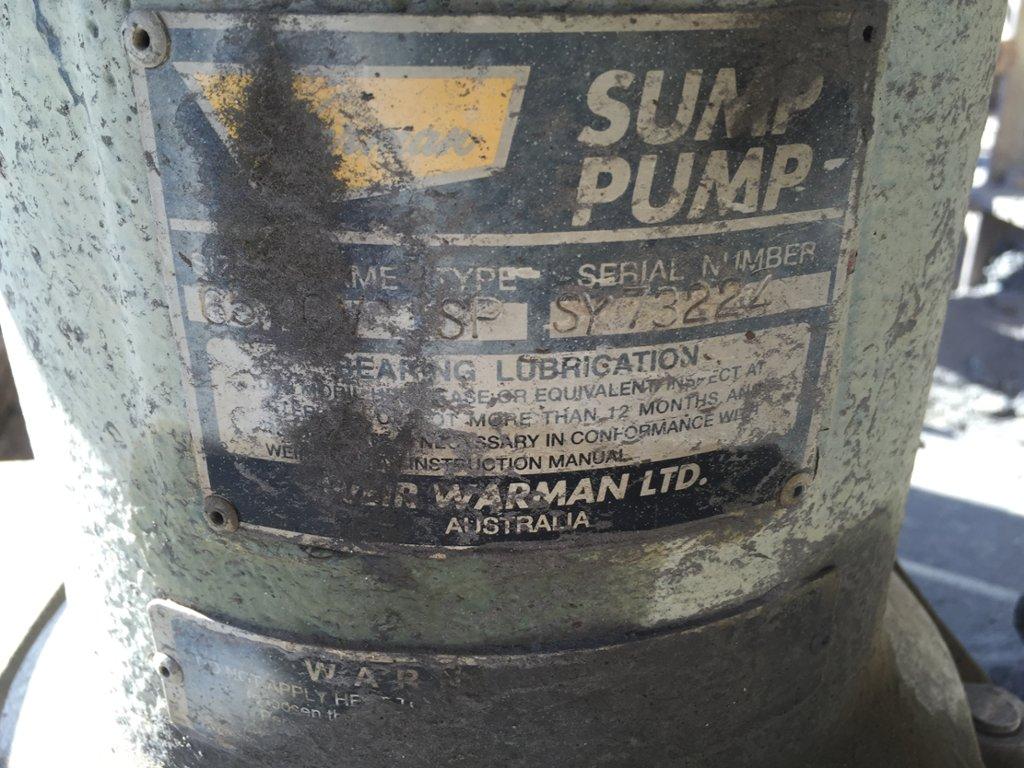 Sump Pump - Warman 65 SP Size